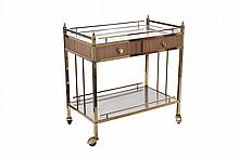 GRETA GARBO ROLLING BAR CART