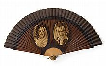 GRETA GARBO AND JOHN GILBERT HAND FAN