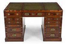 GRETA GARBO 20TH CENTURY BRITISH CAMPAIGN STYLE PARTNERS DESK