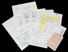 GRETA GARBO BILLS AND INVOICES