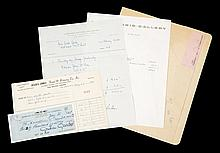 GRETA GARBO SIGNED CHECK AND DOCUMENTS