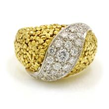 Diamond 18k Gold Dome Ring