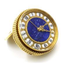 Van Cleef & Arpels 18k Gold Boudoir Clock