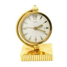 Cartier, Concord Watch Co. Movement 18k Gold Desk Clock