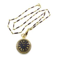 Tiffany & Co. Diamond Enamel Gold Watch