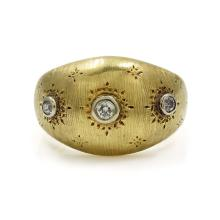Buccellati Diamond 18K Yellow Gold Ring