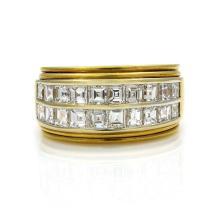 Diamond 18K Yellow Gold Band Ring