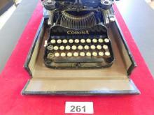 Vintage Corona Typewriter Model 3 with Box with manual- Short Typewriter Company