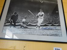 Ted Williams Redsox Autographed Framed Picture Grade 10 with COA