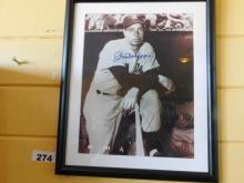 Joe Dimaggio Yankee Autographed & Framed Picture