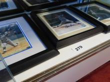 (3) Autographed and framed pictures