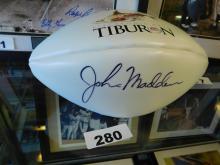 Autographed John Madden Football