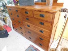 Michael's Furniture tall boy dresser top drawers cedar