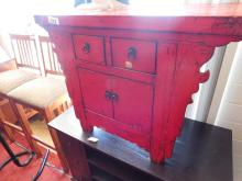 Laquer Red Cabinet