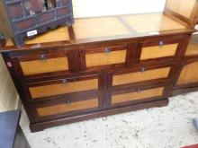 Asian style bamboo inlaid dresser