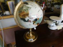 Shell and Stone embelished globe