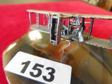 Sterling Silver airplane on geode by Nora & Joe Weingaten