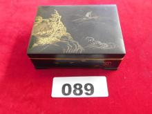 Japanese inlayed gold & silver box