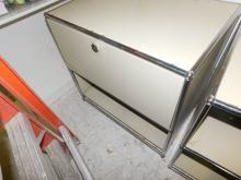 (2) Vintage shelf and metal filing cabinet