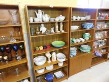 Shelf lot of misc ceramics and other