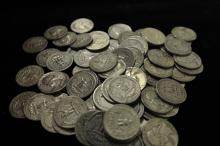 1950s Bag of silver quarters $20 face value SILVER COINS