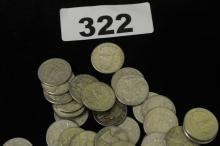 Bag of 1960s Quarters $20 face value SILVER COINS