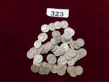 Bag of 1940s Quarters $20 face value SILVER COINS