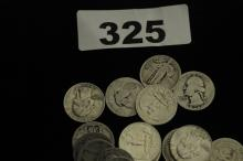 Mixed bag of silver quarters $12.25 face value SILVER COINS