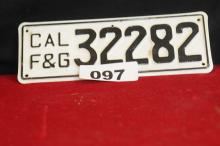 Pair of vintage license plates