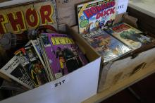 (2) boxes of comic books