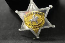 Batalion Chief SF Fire Department & Humbolt Deputy Sheriff badges, Bellevue Fire Dept Badge & (2) tie clips