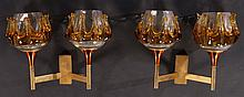 MIDCENTURY MODERN SCONCES COLORED GLASS 1960