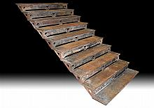 RARE LATE 19TH C. AMERICAN CAST IRON STAIR CASE