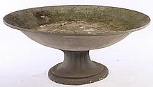 LARGE PAINTED COMPOSITION FOUNTAIN BASIN OR URN