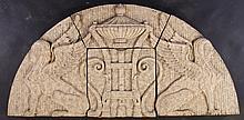 4 PC GLAZED TERRACOTTA FRIEZE EGYPTIAN 1920