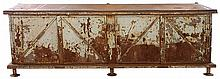 FRENCH METAL CABINET COUNTER 4 DOORS 1930