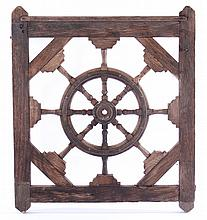 CARVED WOOD NAUTICAL THEME GARDEN GATE 1910