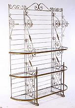 FRENCH WROUGHT IRON BRONZE BAKERS RACK 1930