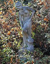 LARGE CAST COMPOSITION FIGURE OF DIANA BATHING