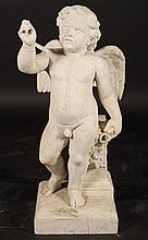 ITALIAN 19TH CENT. CARVED MARBLE FOUNTAIN FIGURE