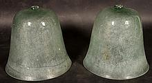 PAIR FRENCH GLASS CLOCHE BELL JARS