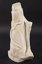 NEOCLASSICAL CARVED MARBLE FRAGMENT OF A LEG
