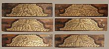 LOT 6 19TH C. RELIEF CARVED GILTWOOD ASIAN PANELS