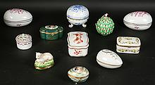 11 PORCELAIN BOXES HEREND GINORI LIMOGES