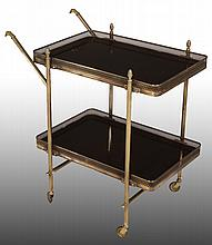 EMPIRE STYLE MAHOGONY SERVING CART C. 1960