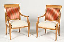PAIR ANDRE ARBUS STYLE ARMCHAIRS CIRCA 1940