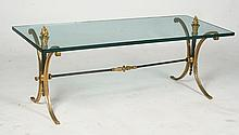 EMPIRE STYLE BRONZE & IRON COFFEE TABLE C.1940