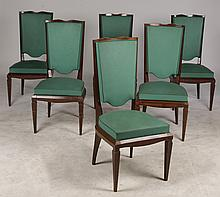 SET 8 FRENCH ANDRE ARBUS DINING CHAIRS 1940