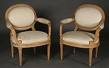 PAIR CERUSED OAKS MODERNISH FAUTEUILS C.1940