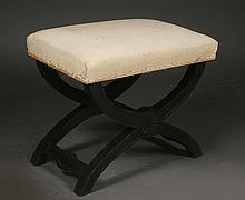 FRENCH X-FORM STOOL CURULE BASE C. 1940